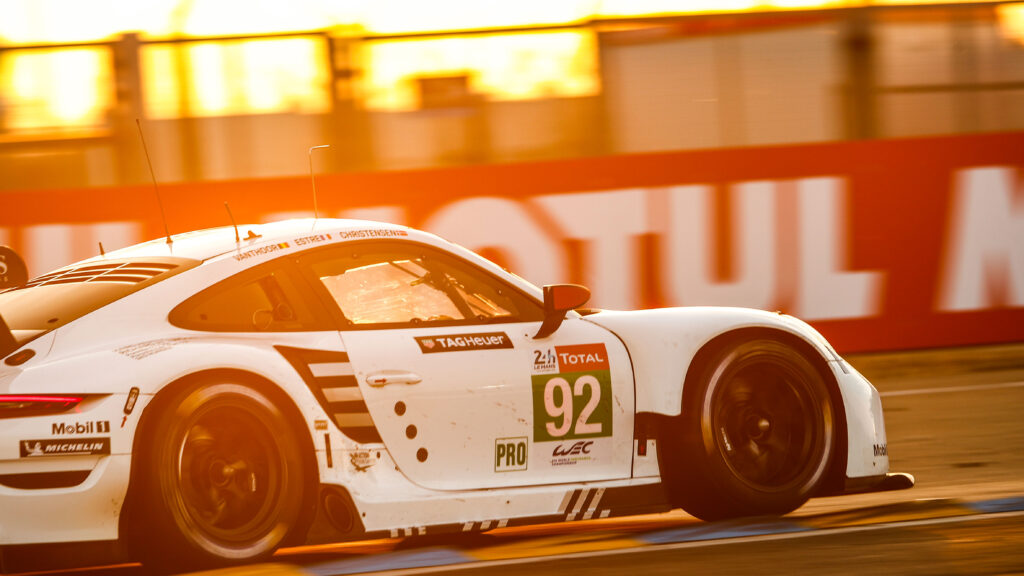 The 911 RSR #92 crossed the finish line in sixth place in its class