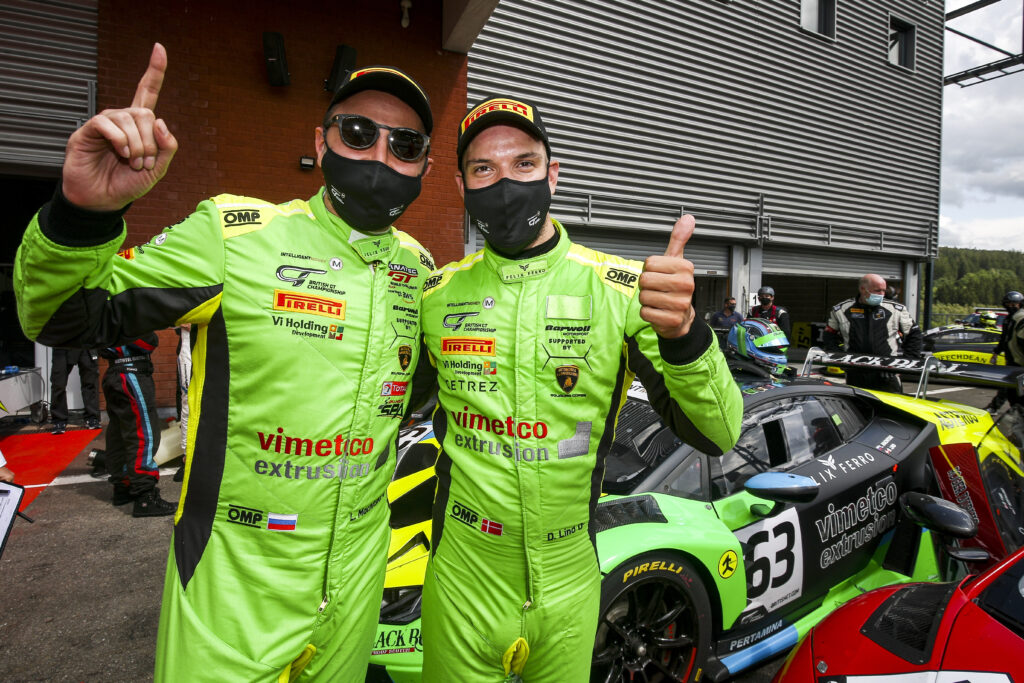 Lamborghini takes first British GT one-two of the season at Spa-Francorchamps and two podiums at Imola GT Open round